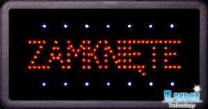tablica swietlna reklama swietlna otwarte i zamkniete